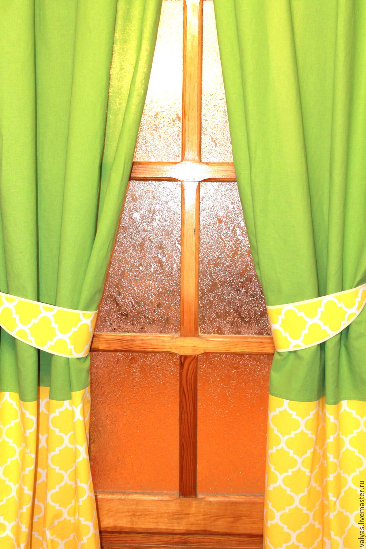 Желто зеленые шторы фото