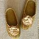 """Обувь ручной работы. Тапочки валяные """"Лесные"""" женские зелёные.. Ирина (Irina-iresh). Ярмарка Мастеров. Тапочки, валяная обувь"""