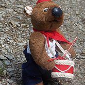 Куклы и игрушки ручной работы. Ярмарка Мастеров - ручная работа Мишка тедди пионер, школьник. Handmade.