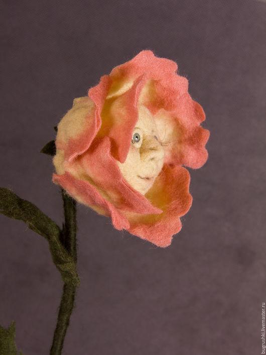 Сказочные персонажи ручной работы. Ярмарка Мастеров - ручная работа. Купить Цветы из говорящего сада. Handmade. Тёмно-фиолетовый, цветы
