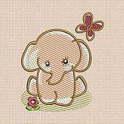Материалы для творчества handmade. Livemaster - original item Machine Embroidery Design by Elephant bt008. Handmade.
