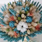 Цветы и флористика ручной работы. Ярмарка Мастеров - ручная работа Букет из сухоцветов. Handmade.