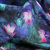 Материалы для творчества handmade. Livemaster - original item Natural silk satin, Shanti. Handmade.