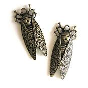 Материалы для творчества handmade. Livemaster - original item Pendant Cicada bronze. Handmade.