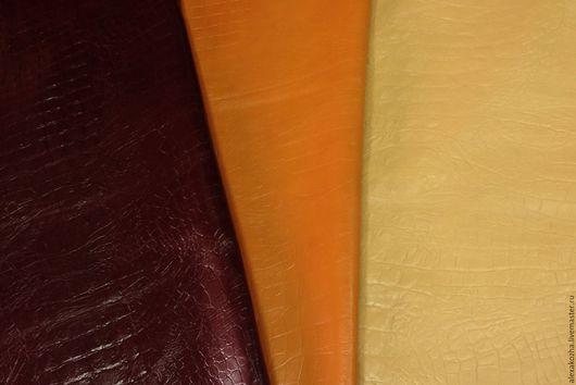 Шитье ручной работы. Ярмарка Мастеров - ручная работа. Купить Кожа натуральная Коллекция Кайман. Handmade. Комбинированный, бордо, кожа