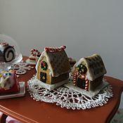 Кукольная еда ручной работы. Ярмарка Мастеров - ручная работа Кукольная еда: имбирные пряничные домики. Handmade.