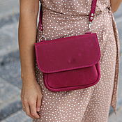 Сумки и аксессуары handmade. Livemaster - original item Leather bag in Fuchsia. Handmade.