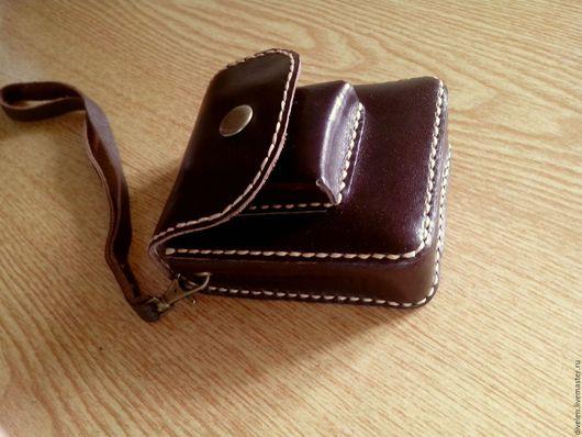 Мужские сумки ручной работы. Ярмарка Мастеров - ручная работа. Купить ССОБОЙКА для самого нужного (мини-сумочка кожаная,на ремень). Handmade.
