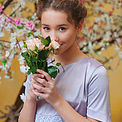 Работы для детей, ручной работы. Ярмарка Мастеров - ручная работа Платье для девочки (13-14 лет). Handmade.