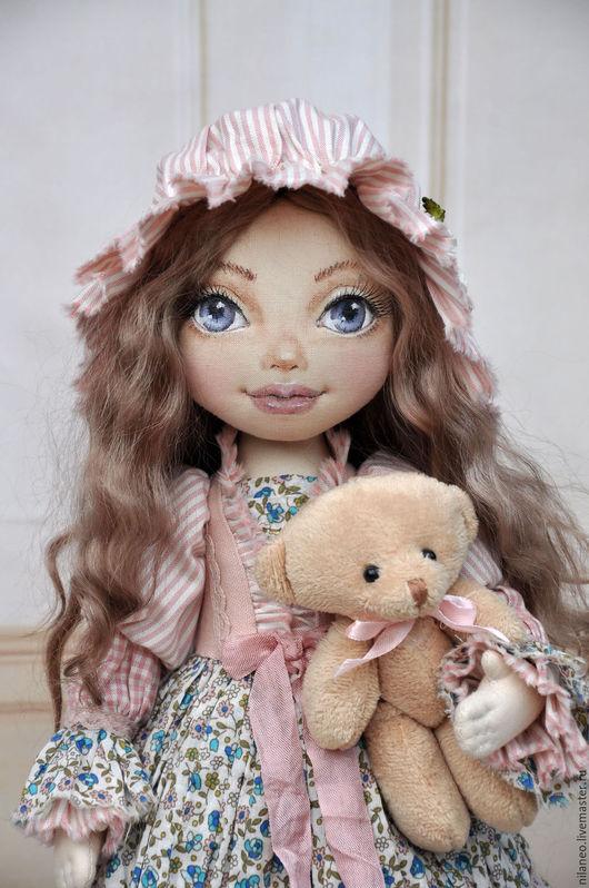 Коллекционные куклы ручной работы. Ярмарка Мастеров - ручная работа. Купить Текстильная кукла Анэти. Handmade. Бледно-розовый