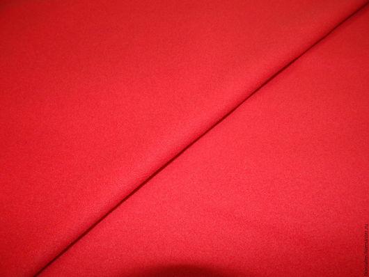 """Шитье ручной работы. Ярмарка Мастеров - ручная работа. Купить -20% Итальянская пальтовая ткань """"Красный"""". Handmade. Ярко-красный"""