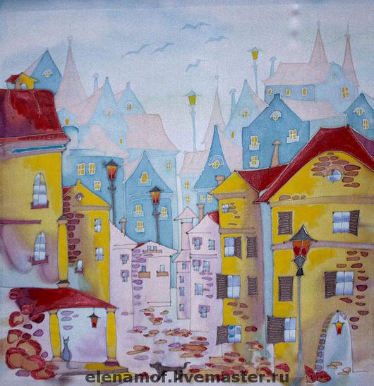 Город ручной работы. Ярмарка Мастеров - ручная работа. Купить Панно Встреча. Handmade. Панно, настенное панно, Картины и панно