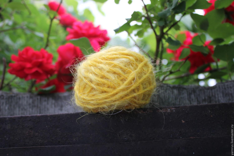 The yarn is handmade from wool and down, Yarn, Cherkessk,  Фото №1