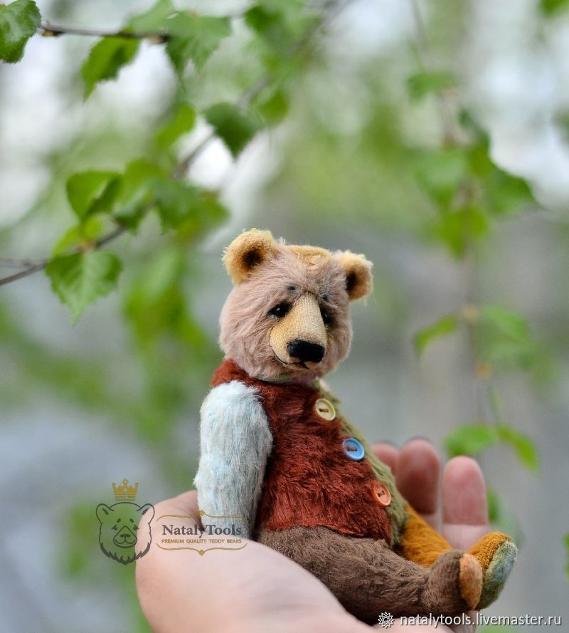 Teddy bear Miskolc collectible author's bear clown, Teddy Bears, Kurgan,  Фото №1