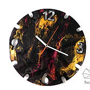Для дома и интерьера handmade. Livemaster - original item Wall clock with backlight in the Resin Art technique. Handmade.