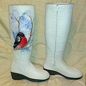 Обувь ручной работы. Ярмарка Мастеров - ручная работа Валенки-сапоги на молнии. Handmade.