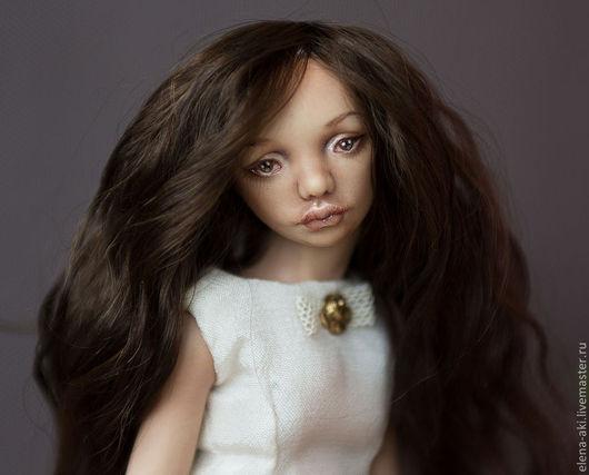 Коллекционные куклы ручной работы. Ярмарка Мастеров - ручная работа. Купить Изабэль, шарнирная фарфоровая кукла. Handmade. Кремовый, подарок