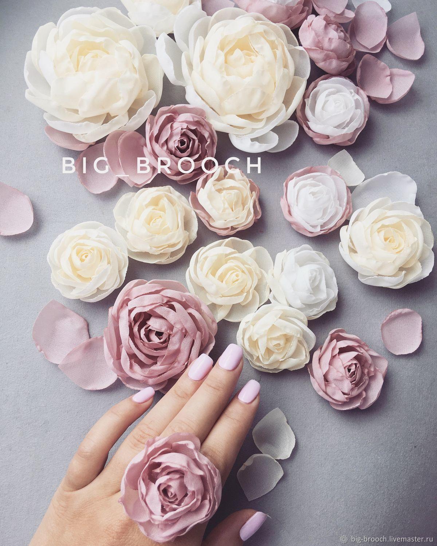 Шифоновые цветы на платье, Платья, Москва, Фото №1