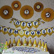Подарки к праздникам ручной работы. Ярмарка Мастеров - ручная работа оформление дня рождения в стиле бамблби. Handmade.