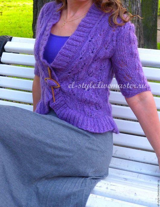 Кофты и свитера ручной работы. Ярмарка Мастеров - ручная работа. Купить Сиренево-фиолетовое болеро. Handmade. Кардиган, ажурная кофточка
