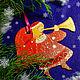 Новый год 2017 ручной работы. Ярмарка Мастеров - ручная работа. Купить новогоднее украшение: ангел красный. Handmade. Ярко-красный