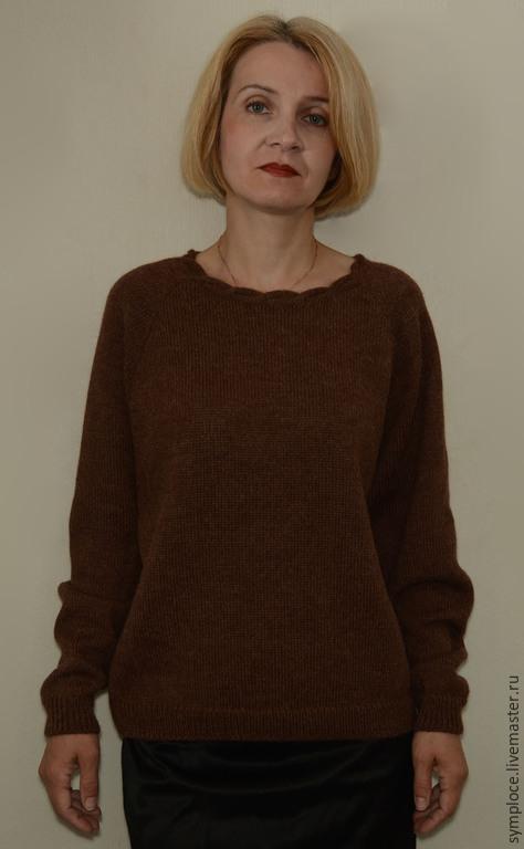 Кофты и свитера ручной работы. Ярмарка Мастеров - ручная работа. Купить Джемпер женский шерстяной. Handmade. Коричневый, свитер