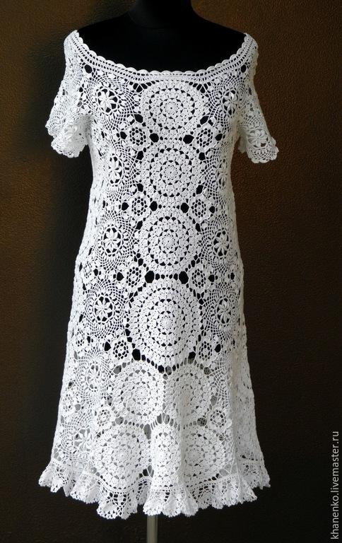 """Платья ручной работы. Ярмарка Мастеров - ручная работа. Купить Платье """"Летнее очарование"""". Handmade. Белый, ручное кружево"""