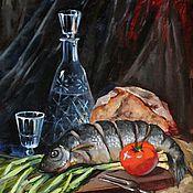 """Картины и панно ручной работы. Ярмарка Мастеров - ручная работа """"НАЕДИНЕ"""" холст/масло. Handmade."""