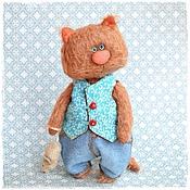 Куклы и игрушки ручной работы. Ярмарка Мастеров - ручная работа Кот тедди. Handmade.