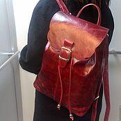Сумки и аксессуары handmade. Livemaster - original item Backpack leather 45. Handmade.
