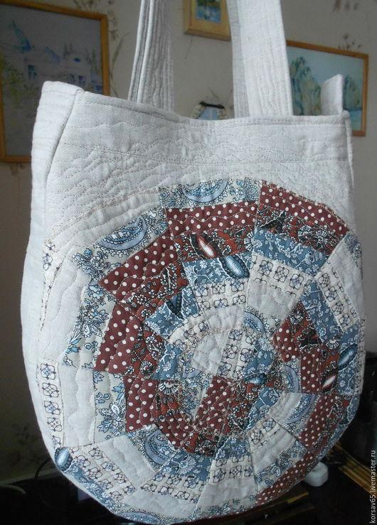 Женские сумки ручной работы. Ярмарка Мастеров - ручная работа. Купить Стеганая лоскутная сумочка Ольгинка. Handmade. Квилтинг, для отдыха
