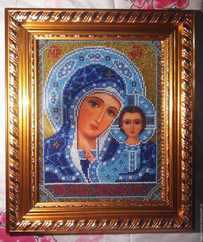 Икона казанской божьей матери вышивка бисером фото 72