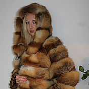Одежда handmade. Livemaster - original item Fox fur coat hooded. Handmade.