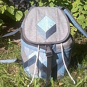 Сумки и аксессуары handmade. Livemaster - original item Backpack denim 3D Vision Gray. Handmade.