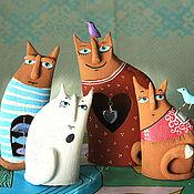 Для дома и интерьера ручной работы. Ярмарка Мастеров - ручная работа Коты-Человеки. Handmade.