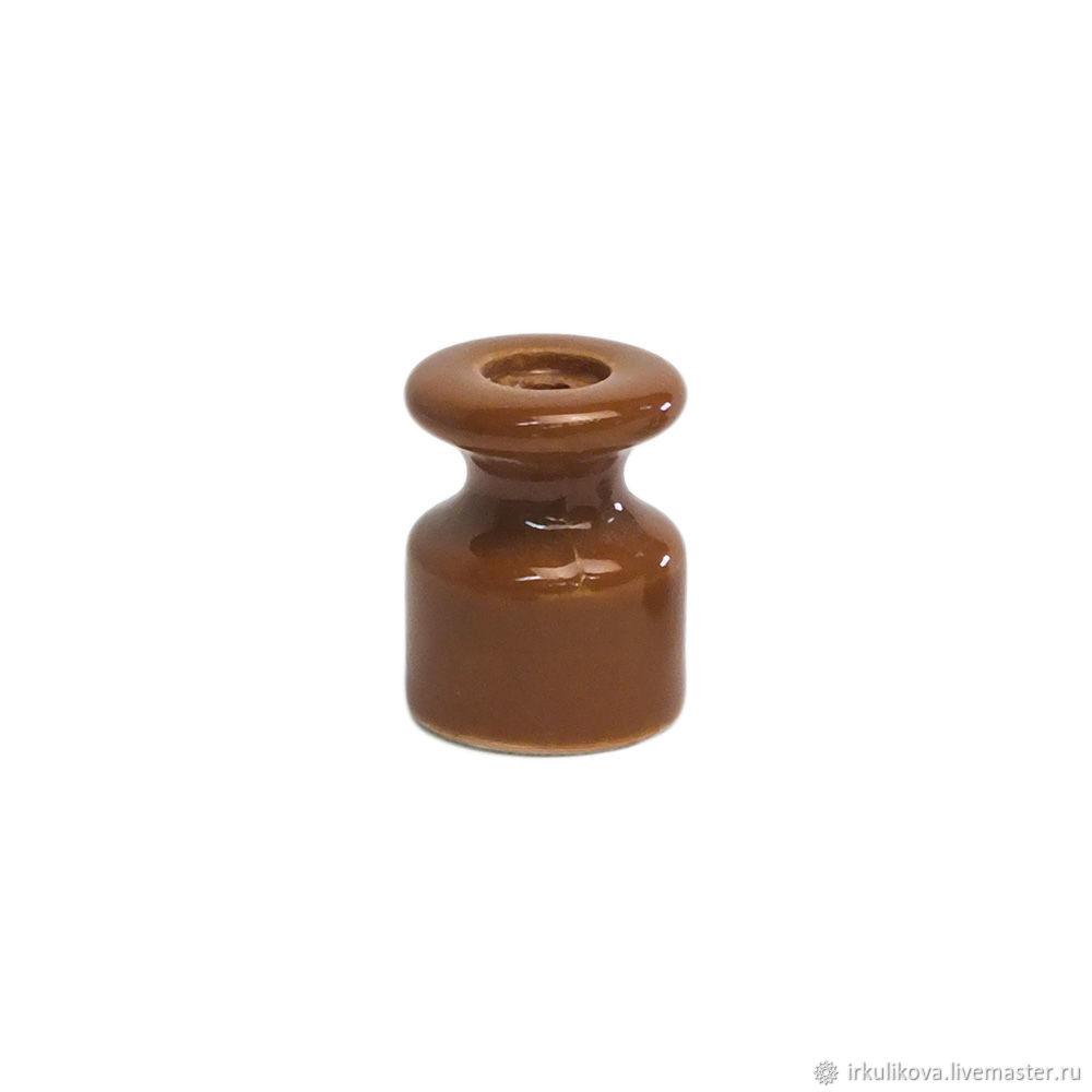 Изолятор керамический 19х24 мм,какао, Дизайн, Москва,  Фото №1