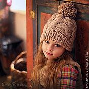 Работы для детей, ручной работы. Ярмарка Мастеров - ручная работа Вязаная шапочка «Теплый вечер». Handmade.