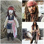 Куклы и игрушки handmade. Livemaster - original item Pirate Jack Sparrow is a textile doll, fairy tale character. Handmade.