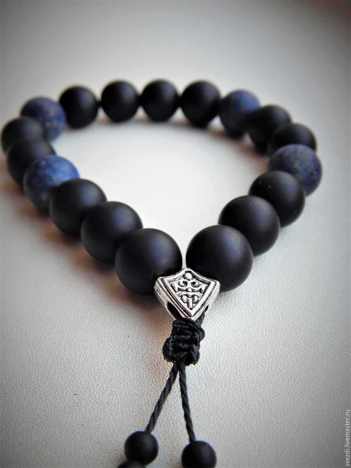 Rosary Bracelet Shungit And Lapis Lazuli Shop Online On