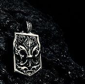 Украшения handmade. Livemaster - original item Pendant the Royal lily of silver 925 with black. Handmade.