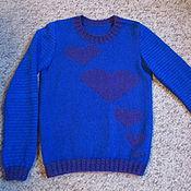 """Одежда ручной работы. Ярмарка Мастеров - ручная работа Пуловер """"Сердце"""". Handmade."""