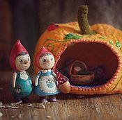 Куклы и игрушки ручной работы. Ярмарка Мастеров - ручная работа Осенние гномики. Handmade.