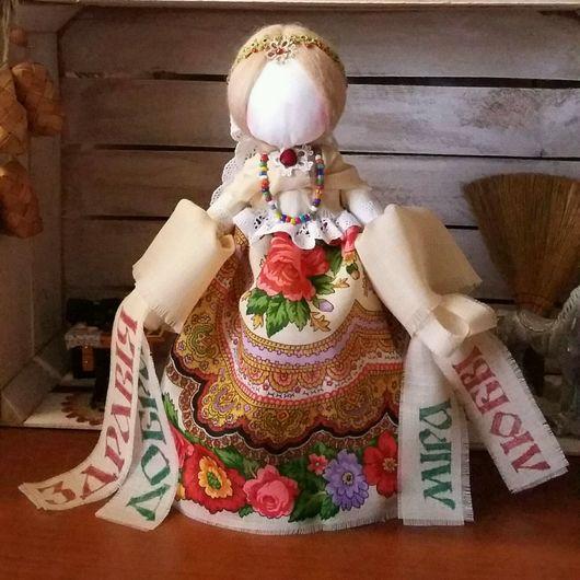 Народные куклы ручной работы. Ярмарка Мастеров - ручная работа. Купить Народная кукла желанница Любавушка -  оберег на исполнение мечты. Handmade.