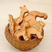 Куклы и игрушки ручной работы. Ярмарка Мастеров - ручная работа Наборы фигурок животных из дерева - Африка. Handmade.