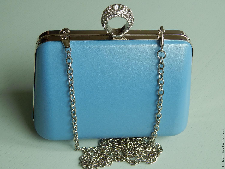 37cfc861b47d Женские сумки ручной работы. Ярмарка Мастеров - ручная работа. Купить Клатч  королевский голубой.