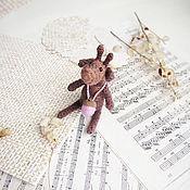 Куклы и игрушки ручной работы. Ярмарка Мастеров - ручная работа Игрушка вязаный олень - лось - Toy deer - Knit Toy - Soft deer - Gift. Handmade.