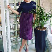 Одежда ручной работы. Ярмарка Мастеров - ручная работа Платье с завышенной талией из утепленного хлопка. Handmade.