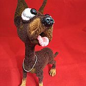 Куклы и игрушки handmade. Livemaster - original item Dog Doberman Dobek. Handmade.