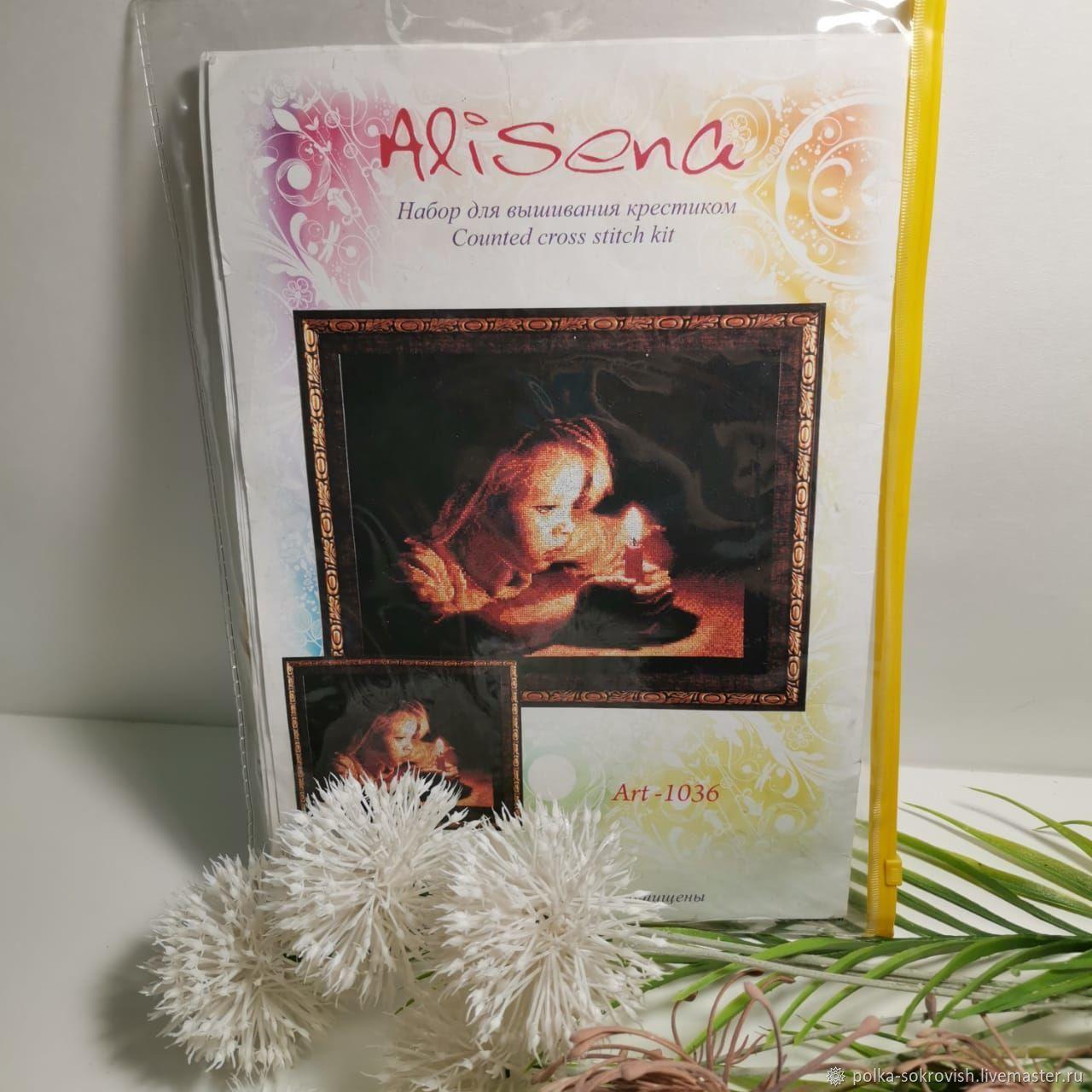 Набор для вышивания Девочка со свечой, 90-е, Аксессуары для вышивки, Москва,  Фото №1