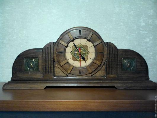 Часы для дома ручной работы. Ярмарка Мастеров - ручная работа. Купить Часы настольные каминные. Handmade. Коричневый, для камина